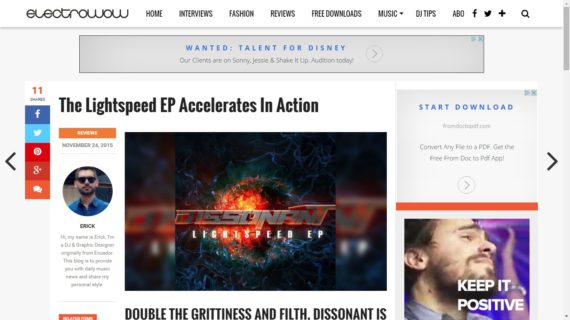 Electrowow supports Lightspeed EP