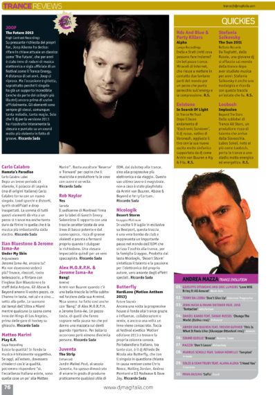 JOOP receives MONEY SHOT review for THE FUTURE in DJ MAG ITALIA
