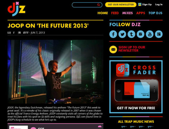 JOOP and his FUTURE featured on DJZ