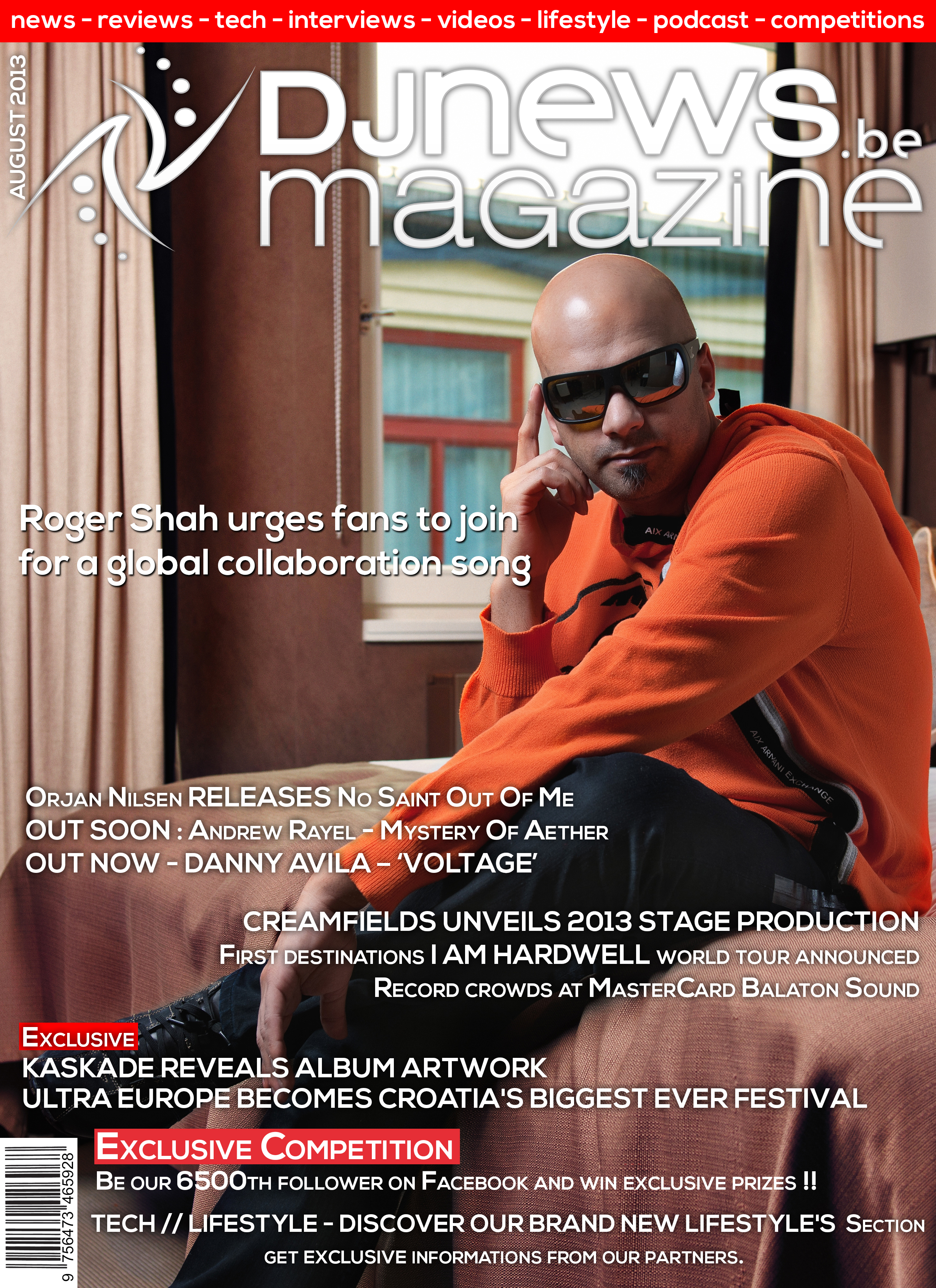 roger shah front cover of dj news magazine