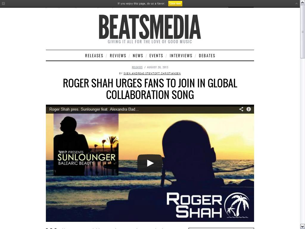 Roger Shah feature